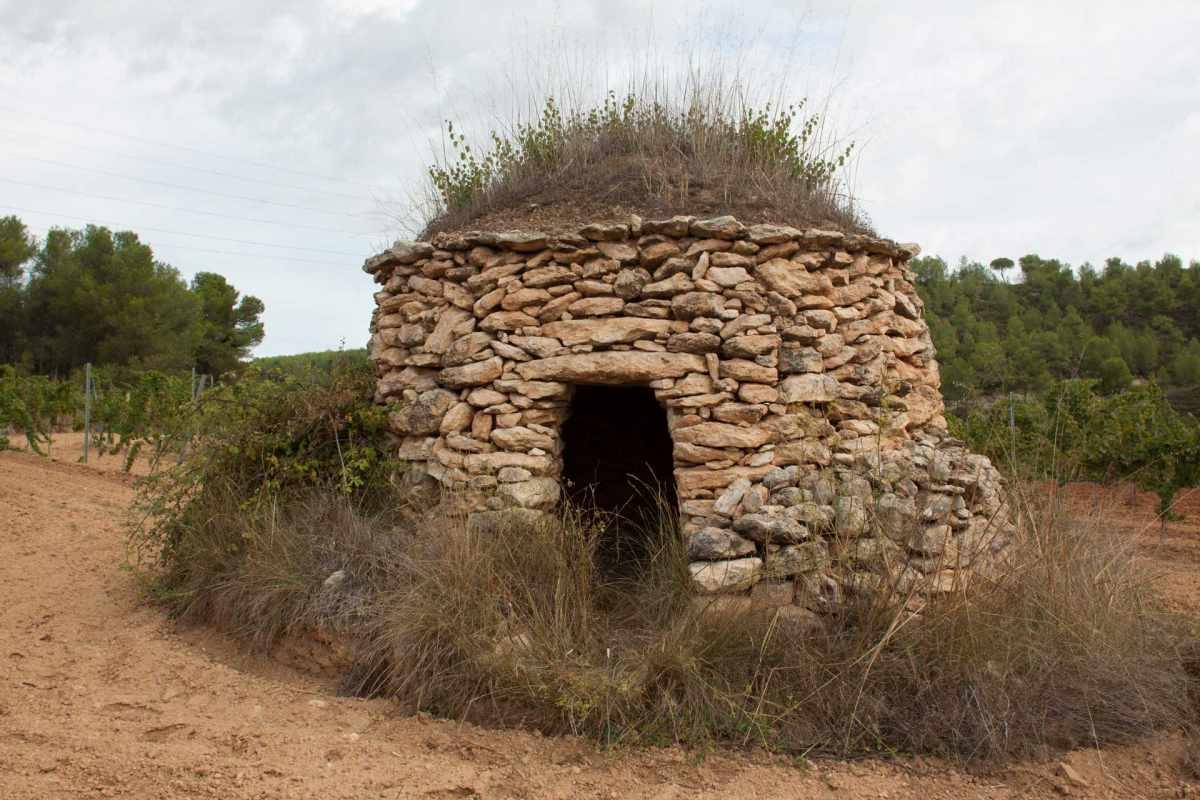 barraca entre vinyes - ruta entre barraques de pedra seca